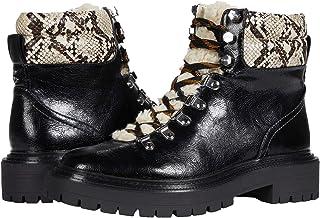 السيرك بواسطة سام ايدلمان حذاء فلورا لمنتصف الساق للنساء، أسود متعدد الأفعى، 5
