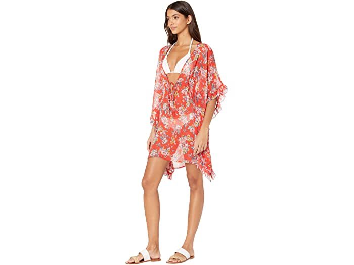 Jessica Simpson Girls Tie Front Chiffon Cover Up