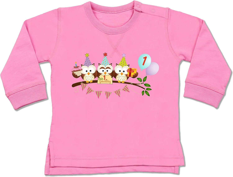 Shirtracer Geburtstag s/ü/ße Party Eulen Erster Baby Pullover 1 Geburtstag Baby