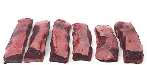 Bison Bone-In Short Ribs: 100% All-Natural, Grass-Fed and Grain Finished North American Buffalo Meat with no Growth Hormones or Antibiotics - USDA Tested - 36 Pieces, 30 lbs of Flavorful Meat
