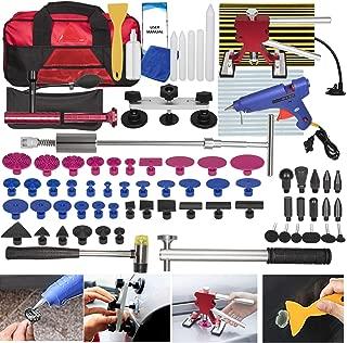94Pcs Car Body Paintless Dent Repair Removal Tools Auto Dent Puller Kit Automotive Door Ding Dent Silde Hammer Glue Puller Repair Starter Set Kits for Car Hail Damage and Door Dings Repair