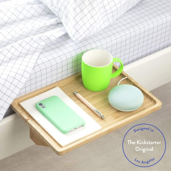 BedShelfie The Original Bedside Shelf 9 Colors 4 Sizes AS SEEN ON Business Insider Minimalist Natural