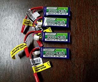 4PACK TURNIGY NANO-TECH 300mAh 2S 7.4 35-70C LIPO Battery 1/24 Losi Micro Truggy SCT Rally