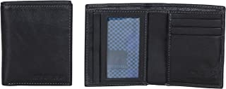 Ben Sherman Hendon Full-Grain Leather Anti-Theft RFID Bi-fold Wallet with Sd Card Slots & Hidden Coin Pocket