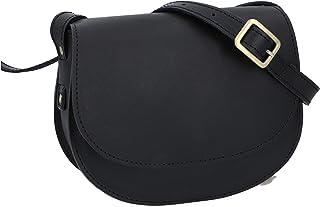 Gusti Handtasche Leder - Elenor Umhängetasche Vintage klein Damenhandtasche Schultertasche Damen Schwarz