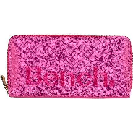 Bench Große XXL Damen Geldbörse Portemonnaie Brieftasche Reißverschluss NEU, Farbe:Pink