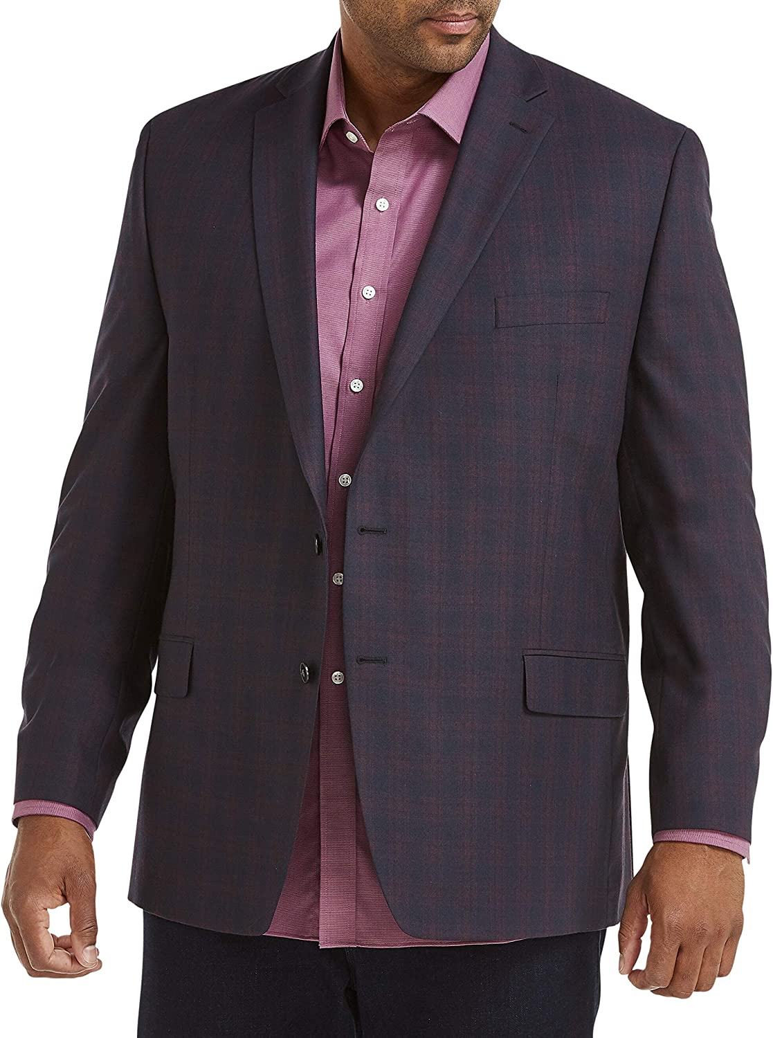 Michael Kors Plaid Sport Coat Free shipping anywhere in the nation Cheap SALE Start Berry