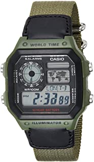 Casio Watch For Men Digital Dial Resin Band - AE-1200WHB-3B