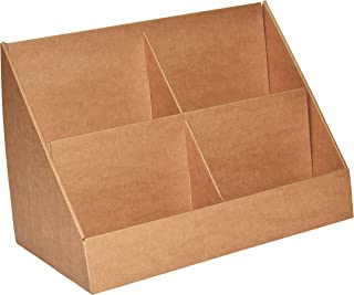 Stand-Store Brown 4 Pocket Cardboard Display for A5 Leaflets & Greeting Cards