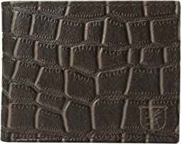 Genuine Leather Croc Embossed Bifold Wallet