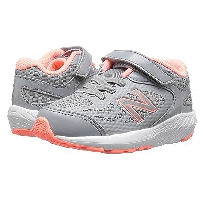 New Balance Kids KV519v1I (Infant/Toddler) (Steel/Azalea) Girls Shoes