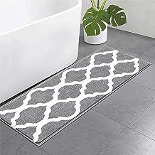 Pauwer Microfiber Bath Rugs Non Slip Bath Rug Runner Absorbent Bath Mats for Bathroom Machine Washable Bathroom Rugs (18×47)