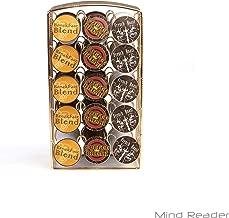 Mind Reader K-Cup Holder, Coffee Pod Holder Holds 30 K-Cups, Metal Mesh, Gold