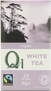 Qi Tea Organic White Tea Teabags, 25 Count