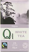 Qi Tea Organic White Tea Teabags, 25 Count