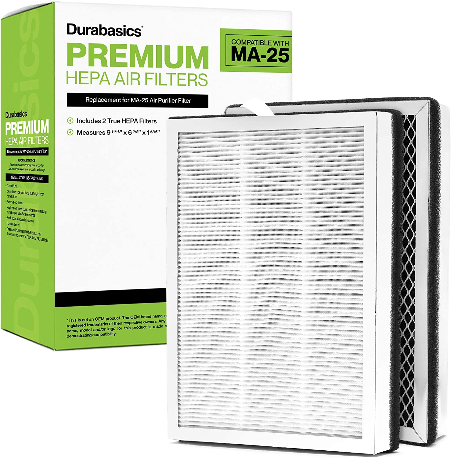 Durabasics HEPA Filters Outlet ☆ Free Shipping for Medify Filter Industry No. 1 MA-25 - Replacement 2