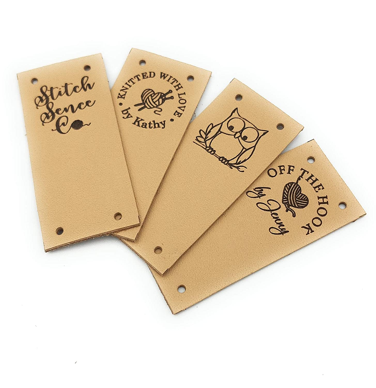 Today's Max 48% OFF only Folding leather labels knitting logo personalized label