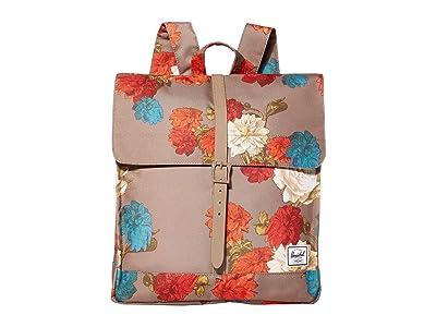 Herschel Supply Co. City Mid-Volume (Vintage Floral Pine Bark) Backpack Bags