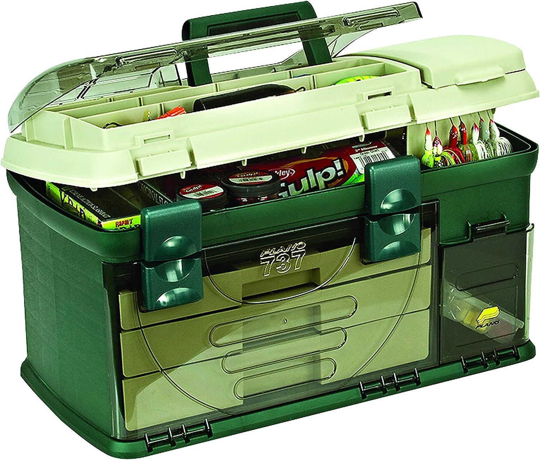 Plano 3-Drawer Tackle Box Premium Beige Green Louisville-Jefferson County Mall Metallic Choice