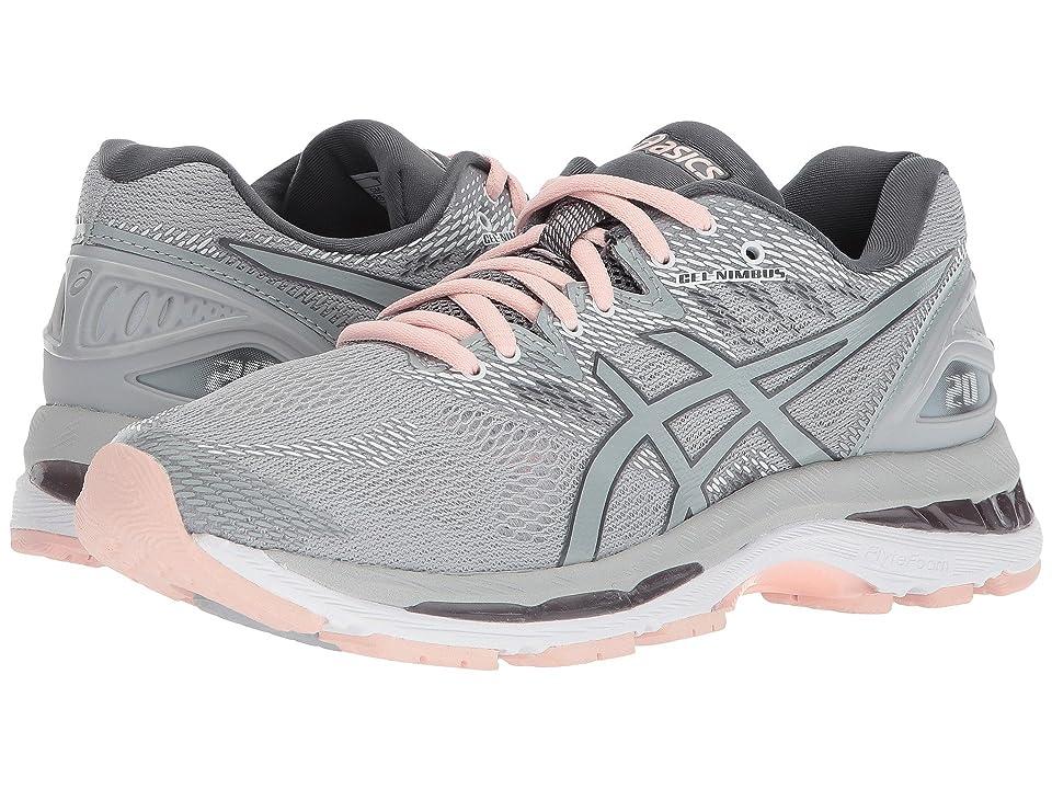 ASICS GEL-Nimbus(r) 20 (Mid Grey/Mid Grey/Seashell Pink) Women