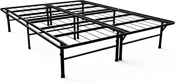 Zinus Gene 14 Inch SmartBase Deluxe Mattress Foundation Platform Bed Frame Box Spring Replacement Queen