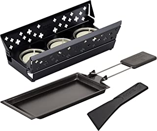 KUHN RIKON 32170 Mini Raclette Set, Black, Steel