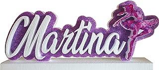 Scritta personalizzata in polistirolo tema ballerina per tavolo torta