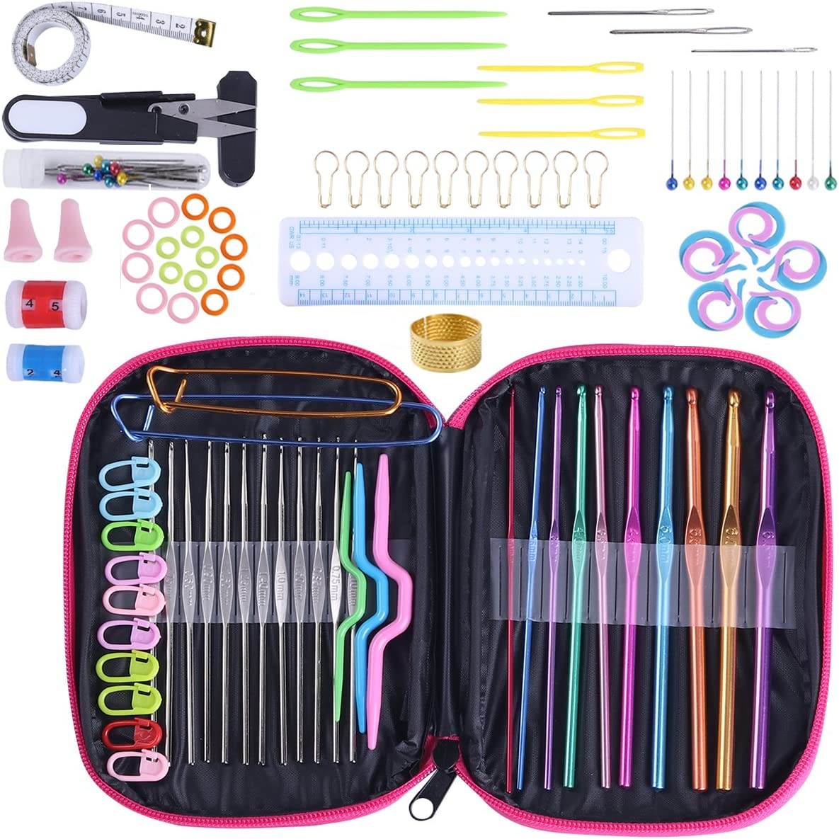 KOKNIT Multicolor Sale Aluminum Crochet 100Pcs Croc Jacksonville Mall Knitting Hooks
