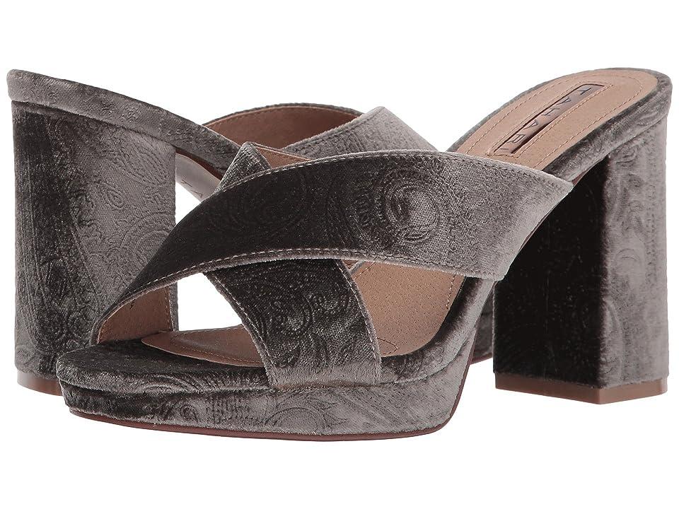 Tahari Posey (Taupe Embossed Velvet) High Heels