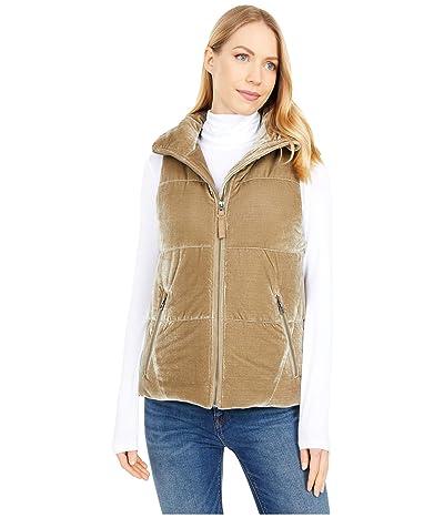 Dylan by True Grit Washed Vintage Velvet Puffer Vest (Olive) Women