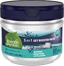 Seventh Generation Laundry Stain Remover Packs Oxy Booster 25 Count - Pack of 6