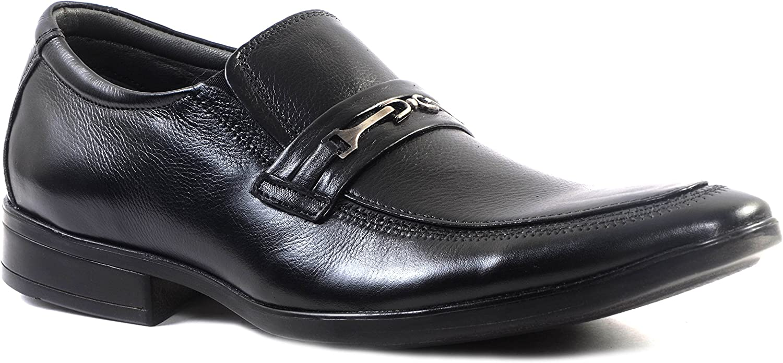 Hitz Black Leather Formals shoes for Men