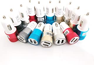 USB Car Charger Dual Port Fast Charge Bulk Lot Wholesale Chargers by UNiCORN Trade (50 Packs)