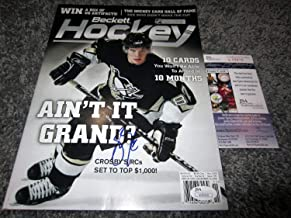 Sidney Crosby Pittsburgh Penguins Canada Autographed Signed Beckett Magazine with JSA