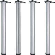 Gedotec Meubelpoten roestvrij staal tafelpoten in hoogte verstelbaar tafelpoten metaal - H1712 | hoogte 710 mm | Ø 60 mm |...