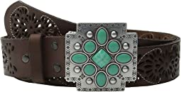 Southwest Cross Buckle Pierced Belt