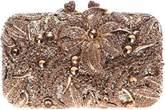 Fawziya Diamond Lilies Flower Purse Evening Handbags And Clutches