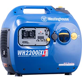 Westinghouse WH2200iXLT Super Quiet Portable Inverter Generator 1800 Rated & 2200 Peak Watts, Gas Powered