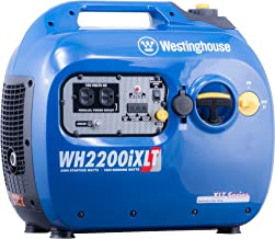 Westinghouse WH2200iXLT Super Quiet Portable Inverter Generator 1800 Rated & 2200..