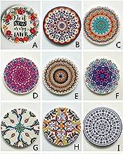 YUMEIGE Marokkaanse etnische stijl coaster, diatomee keramische plaatmateriaal, koffiekopje mat (Color : M)