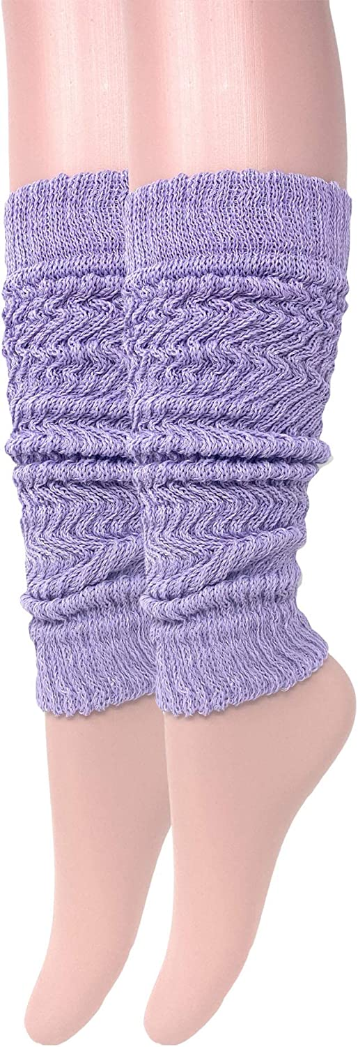 Cotton Leg Warmers Knitted Retro Adult Unisex