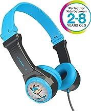 JLAB JBuddies Folding Kids Wired Headphones | Toddler Headphones | Noise Isolation | Kids Safe | Volume Limiting Headphones | Headphones for Children | Gray/Blue