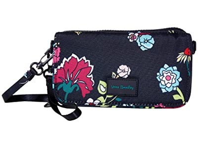 Vera Bradley ReActive RFID Compact Crossbody (Itsy Ditsy Floral) Handbags