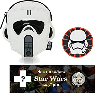 Loungefly Scout Trooper Bag Bundle: Star Wars Patch, and Random Pin