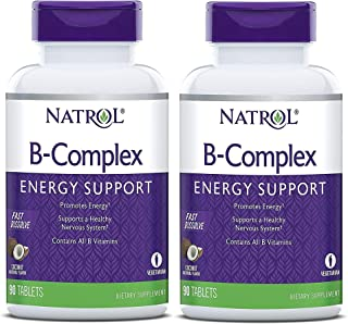Natrol B-Complex Fast Dissolve Tablets, Coconut flavor, 90 Count 2 Pack