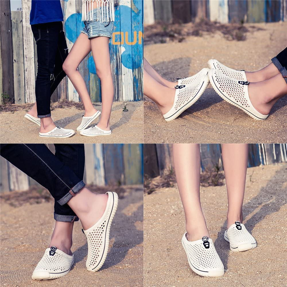 BOLOG Summer Garden Clogs Unisex Breathable Lightweight Flip Flops Quick-Dry Mesh Water Shoes Non-Slip Footwear Walking Shower Beach Sandals Hole Slippers Women Men