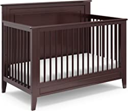 Storkcraft Solstice 4-in-1 Convertible Crib (Espresso) - Easily Converts into Toddler Bed, Daybed, or Full-Size Bed