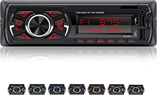 comprar comparacion LSLYA Coche Stereo Retroiluminación de 7 colores Llamadas manos libres Bluetooth Radio FM Reproductor de MP3 compatible co...