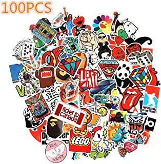 Laptop Stickers, Cool Sticker, Sun Protection and Waterproof Stickers for Luggage Car Bike Bicycle Random Music Film Vinyl Skateboard Guitar Travel Case (100pcs)