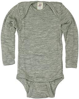 Engel Baby Body langarm, Wolle Seide, Engel Natur, 2 Farben, Gr. 50/56 - 110/116